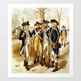 Infantry Of The Revolutionary War Art Print