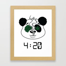 4:20 Panda (4/20 Edition) Framed Art Print