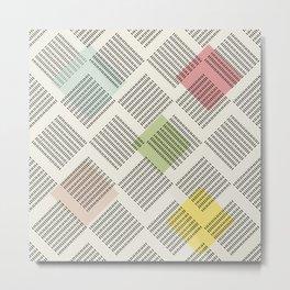 Nordic Pattern IV Metal Print