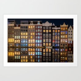 Dutch Canal houses in Amsterdam Art Print