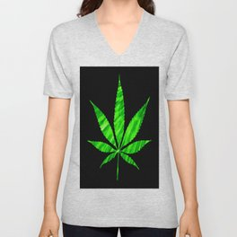 Weed : High Times Vibrant Green Unisex V-Neck