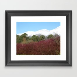 Snow capped Cumbrian mountains Framed Art Print