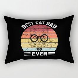 Best Cat Dad Ever Papa Father's Day Rectangular Pillow