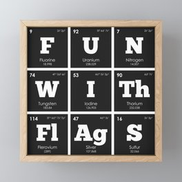Periodic Elements: Fun with Flags Framed Mini Art Print