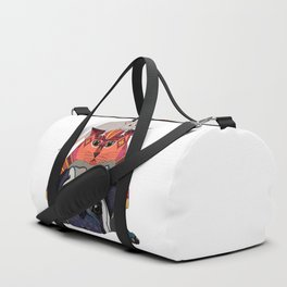 mouse cat pug white Duffle Bag