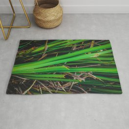 green leaves texture background Rug