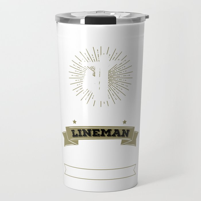 Never Dreamed I'd Be Grumpy Lineman Construction Travel Mug