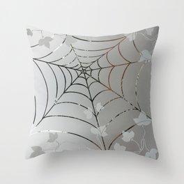 Glass Cobweb Throw Pillow