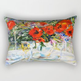 Bouquet on the table Rectangular Pillow