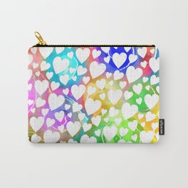 Watercolour Heart Pattern Carry-All Pouch