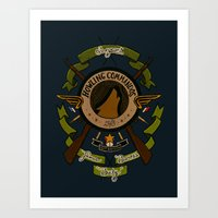 bucky barnes Art Prints featuring Sgt Bucky Barnes (green) by emptystarships