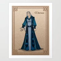 valar morghulis Art Prints featuring Manwe by wolfanita
