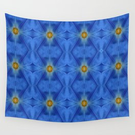 Divine Diamond Morning Glory Blues Wall Tapestry