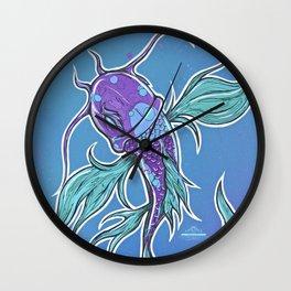 Bump Koi Print Wall Clock
