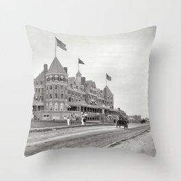 1910 Hotel Mathewson & Coastguard House at Narragansett Pier, Narragansett, Rhode Island Throw Pillow