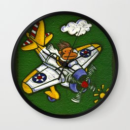 Airplane Ape Wall Clock