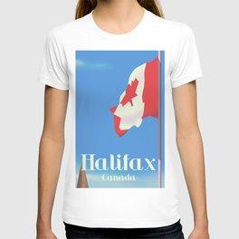 Halifax Canada travel poster T-shirt