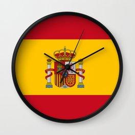 Flag of spain-spain,flag,flag of spain,espana,spanish,espanol,Castellano,Madrid,Barcelona, Wall Clock