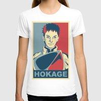 naruto T-shirts featuring Naruto - Hokage by KingSora