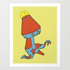 Cool Bot Art Print