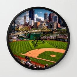 Pnc Park Skyline of Pittsburgh, Pennsylvania Wall Clock