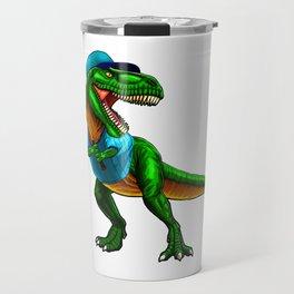 Dinosaur T Rex Baseball Travel Mug