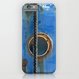 Blue Rusty, Grungy Ship Detail iPhone Case