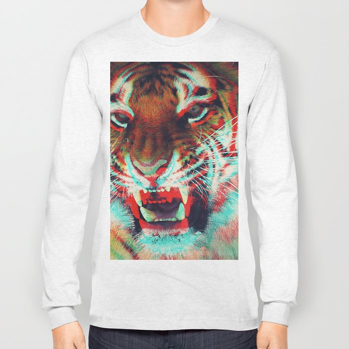 Abstract Techno Tiger Long Sleeve T-shirt