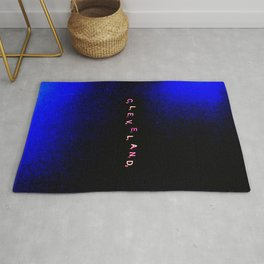 """ Cleveland"" in Black & Blue Rug"
