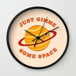 Just Gimme Some Space - Orange Wall Clock