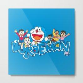 Doraemon Family Metal Print