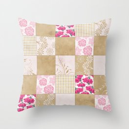 Spring Time - Patchwork Throw Pillow