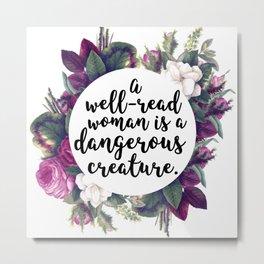 A well read woman Metal Print