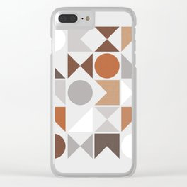Mid Century Modern Geometric 16 Clear iPhone Case