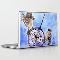 clock Laptop & iPad Skins featuring Clock by Anna Shell