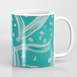 Teal Love Heart Coffee Mug