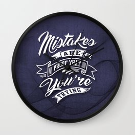You're Trying - Inspirational Quotes. Wall Clock