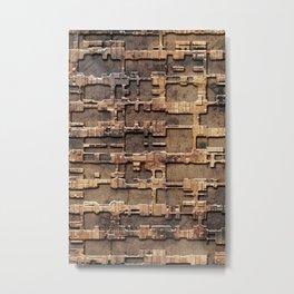 Techno rust Metal Print