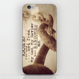 Chains are gone iPhone Skin