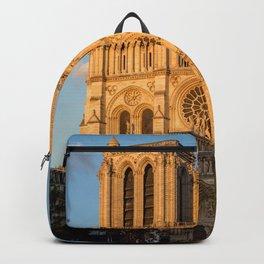 Notre Dame de Paris at Golden Hour Backpack