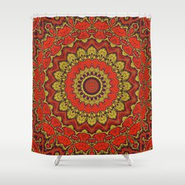 Mandala Fractal in Indian Summer 03 Shower Curtain