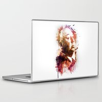 hitchcock Laptop & iPad Skins featuring ALFRED HITCHCOCK by Elizabeth Cakovan