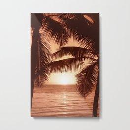 Warm Sunset Beach Metal Print