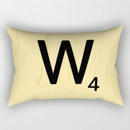 Scrabble Q Initial - Large Scrabble Tile Letter Rectangular Pillow
