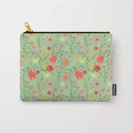 Wildflowers {mint} Carry-All Pouch