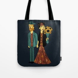 Love is Art Frida Kahlo and Van Gogh Tote Bag