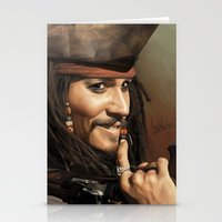 jack sparrow Stationery Cards featuring Jack Sparrow by Hernán Castellano