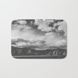 Red Rock Canyon, Las Vegas, Nevada. Mountain Black and White Photograph Bath Mat