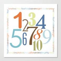 Numbers Square - Safari colorway Canvas Print