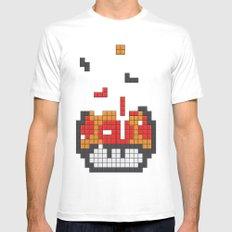 Super Mario Mushroom Tetris Mens Fitted Tee White MEDIUM